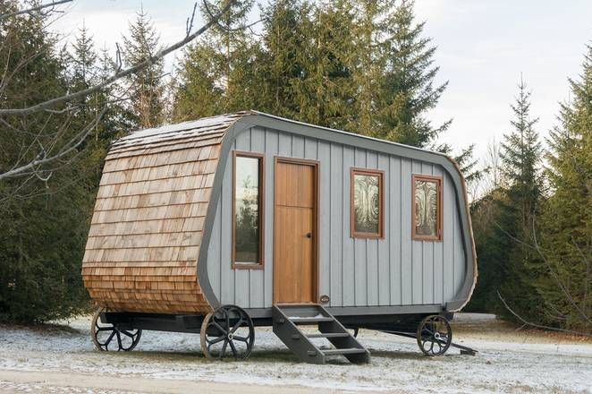 Güte designed version of the shepherds hut is beautiful inside and costs $23,000
