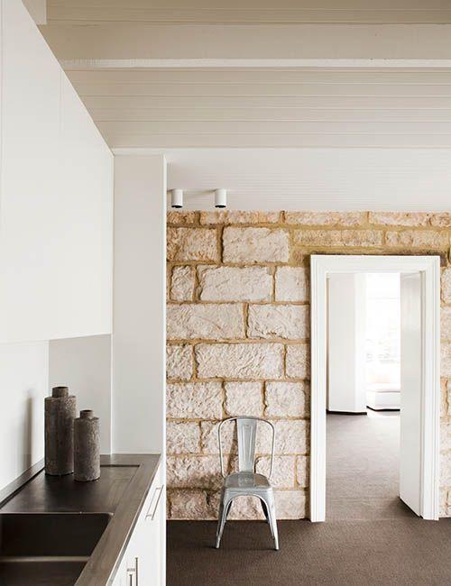 BALMAIN WHARF APARTMENTS | alwill #interiors #kitchen #sandstone