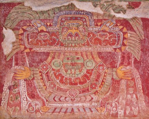Spider Woman of Tetitla at Teotihuacan #teotihuacan #tetitla