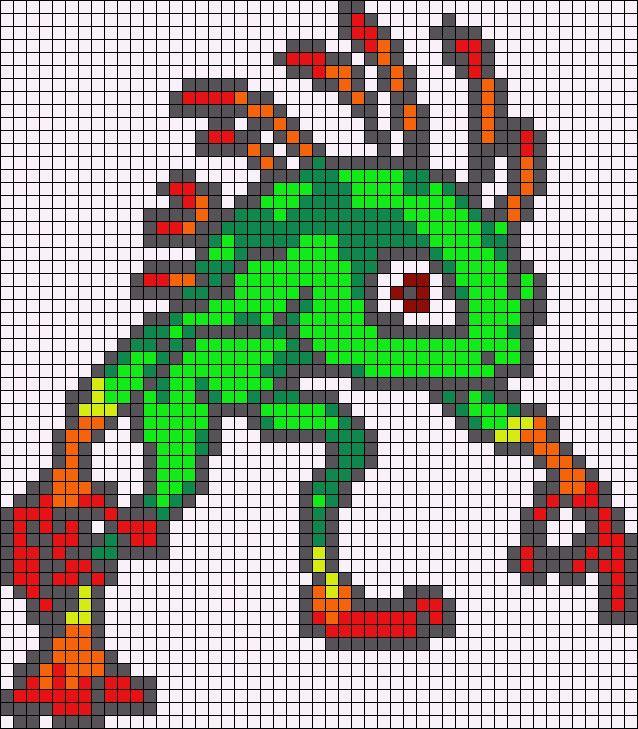 Murloc World of Warcraft perler bead pattern