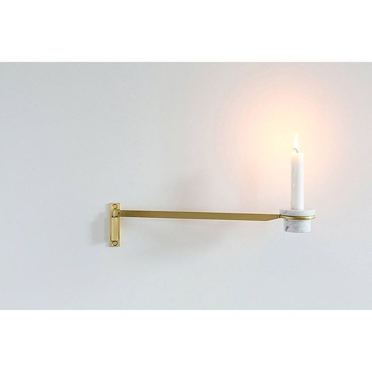 Pivot Candle Holder by Fort Standard A stacked stone candle holder pivots on the wall to be stored flat or pulled out for use. Candle holder can be removed ...  sc 1 st  Pinterest & 112 best Candleholders - Contemporary u0026 Modern Candlesticks ... azcodes.com