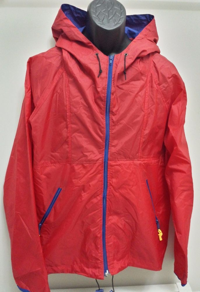 SIERRA DESIGNS RED  NYLON WINDBREAKER JACKET RAIN COAT SIZE XL #SierraDesigns #Windbreaker