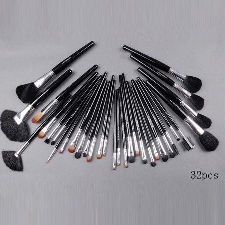 best mac 32 pieces brush set with black pouch makeup