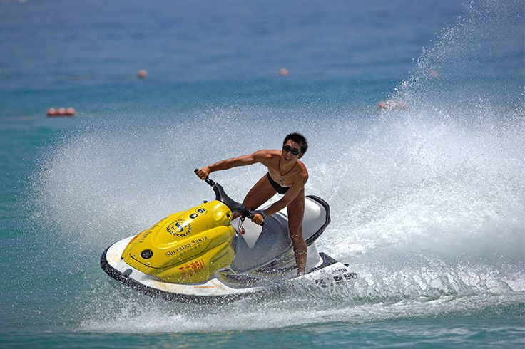 Jet skiing is a must-try in #sanya. #SanyaRepin #SanyaHeartstoHearts  #refreshinglysporty #oceansports