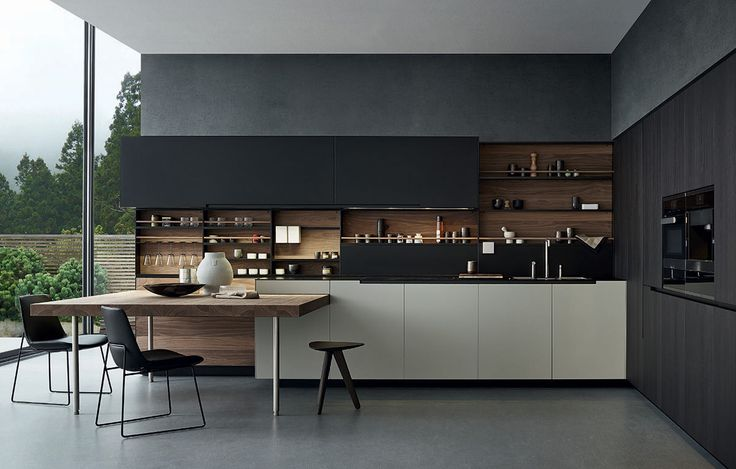 Ideal Richlin International Design offers Varenna Phoenix Contemporary Kitchens by Poliform in our Naples Florida Showroom at