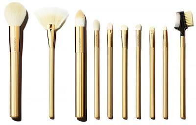 gold makeup brush set