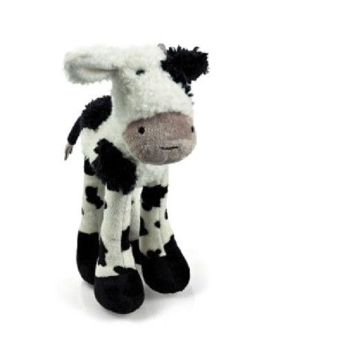 With suedette horns and black and white patched fur, Stardaisy Cow from Air Puppy is 33cm and has a soft brown muzzle, one white ear and one black ear.