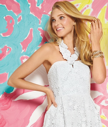 Lilly Pulitzer Spring 2013 - Kailene Dress in Resort White Truly Floral Lace.  Shop this look: http://www.lillypulitzer.com/catalog/product.jsp?style=47907