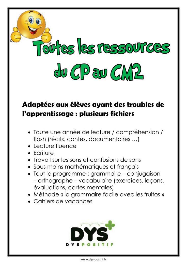 Exercices, leçons, évaluations, cartes mentales adaptés pour les élèves dys: Ce1, Ce2, Cm1, Cm2 - Dyslexie, dysorthographie, dysgraphie, dyscalculie, dyspraxie - Livres à commander en ligne, adaptés pour les élèves dyslexiques http://www.dys-positif.fr/livres-pour-eleves-dyslexiques-lecture/