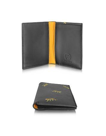 Paul Smith - Men's Black Leather Simple Leopard Wallet