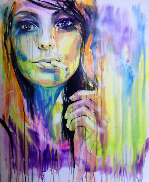 """Saatchi Online Artist: Yuliya Vladkovska; Acrylic 2013 Painting """"if you don't mind.."""""""