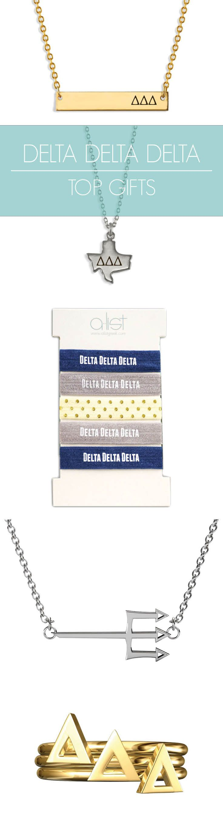 Top Delta Delta Delta Gifts for you and your sisters! This season's must-haves for all things Tri Delta // #sorority www.alistgreek.com