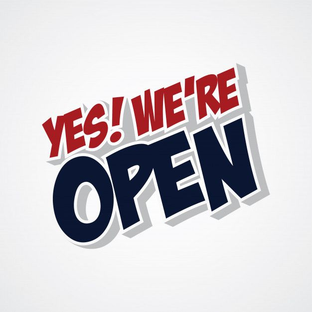 Yes We Are Open Store Yes We Are Open We Are Open Sign We Are Open Poster