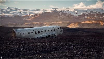 landscape, photography, nature, travel, Images Beyond Words, crashed airplane, mountain, mountainview, clouds, crash, iceland, Serge Daniel Knapp, art