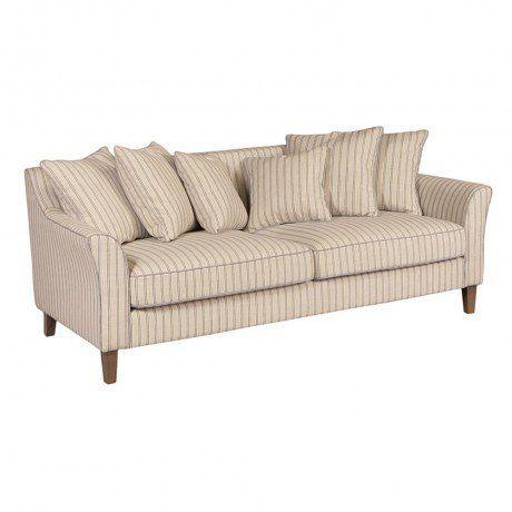 Blue & Cream Stripe Sofa