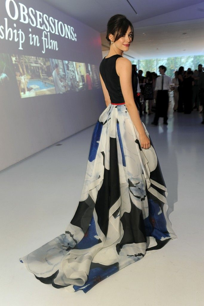 Emmy Rossum in Carolina Herrera at Museum of Moving Image