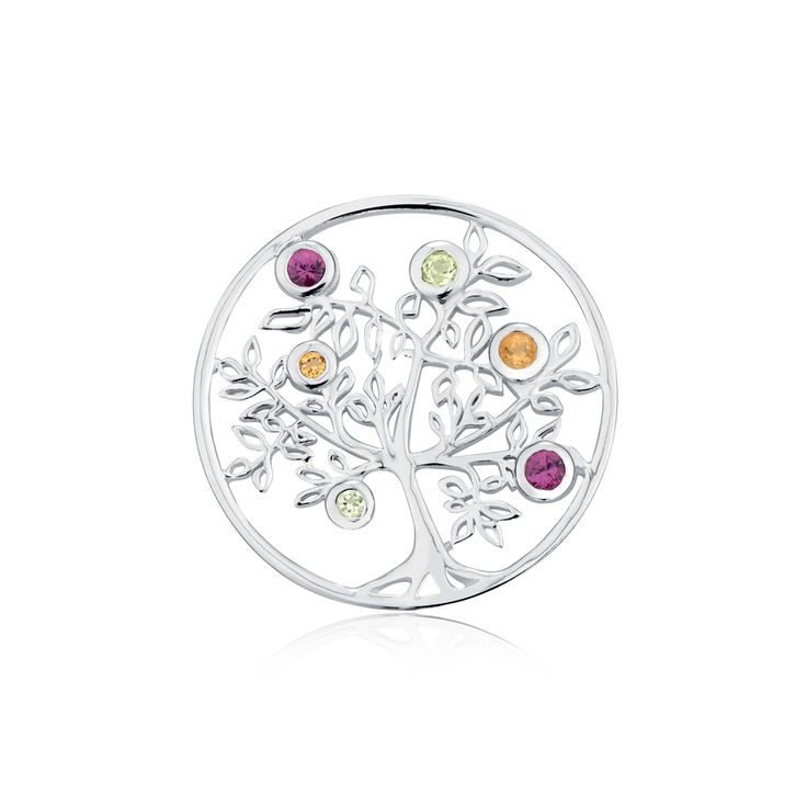 Multistone & sterling silver interchangeable pendant disc insert. #elysiancollection #emmaandroe #jewelry #jewellery #pendants #interchangeable