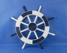 Painted Wooden Ship Wheels 18 W 4 Diffe Nautical Motifs Boat Steering Wheel