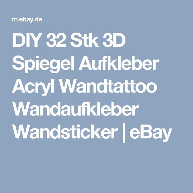 Spectacular DIY Stk D Spiegel Aufkleber Acryl Wandtattoo Wandaufkleber Wandsticker eBay