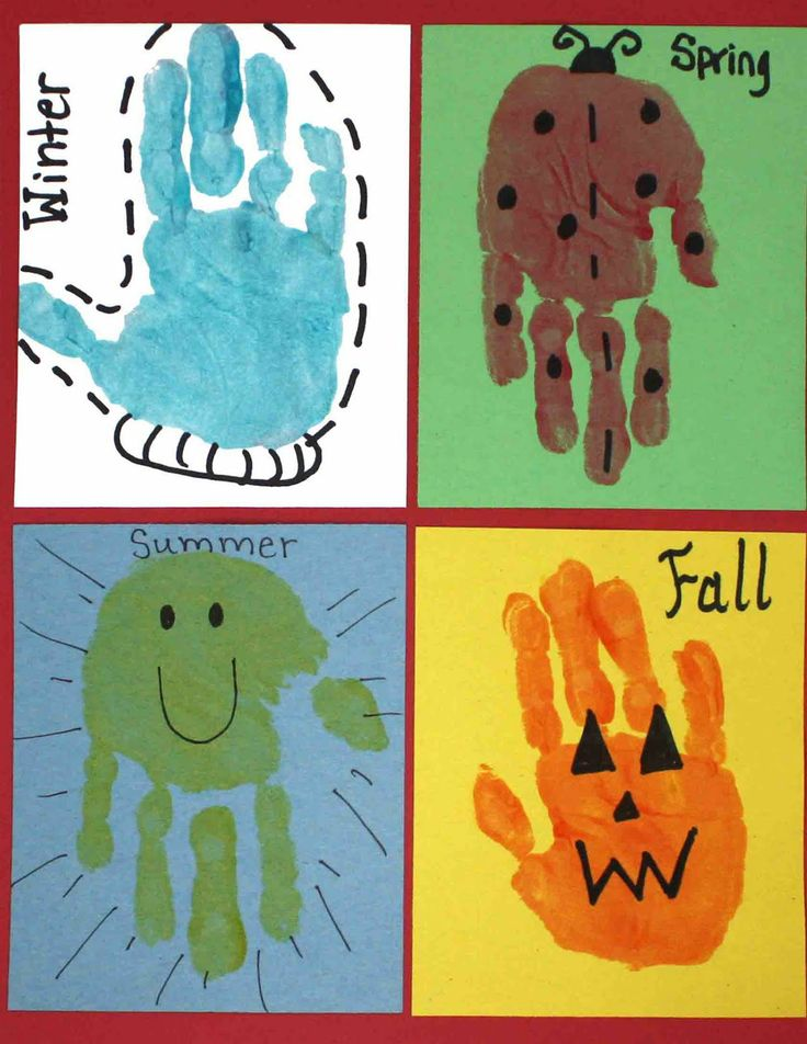 Handprints for every season.: Ideas, Hands Prints, Seasons, Handprint Art, Hand Prints, Kindergarten, Kids, Art Projects, Crafts