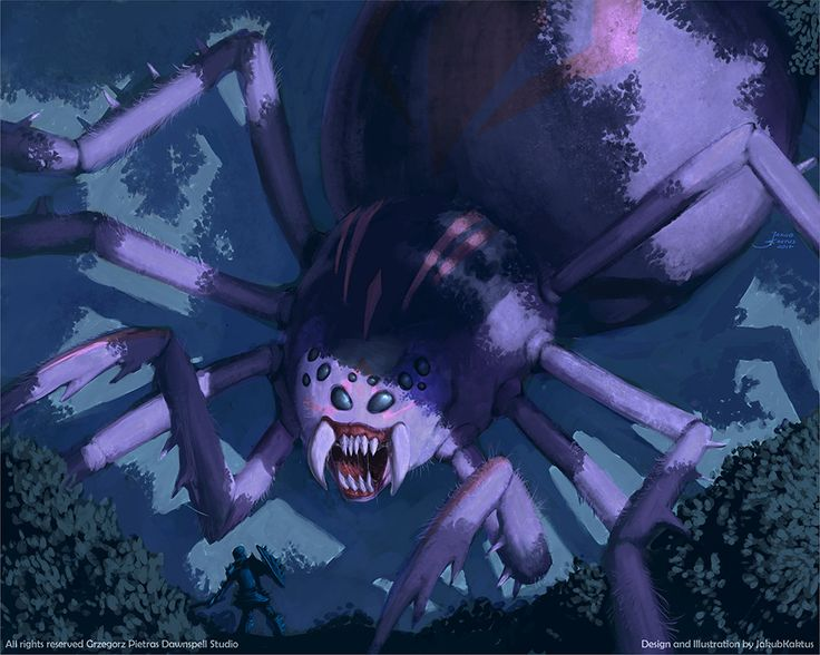 Pająk (Giant Spider) by JakubKaktus, James 'Kaktus' Balewicz on ArtStation at https://www.artstation.com/artwork/r4Jze