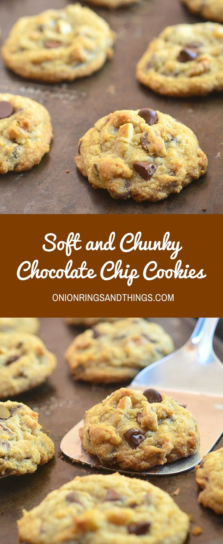 Chocolate Chip Cookies are soft and chunky, moist and chewy on the inside for a whole new level of yum. The secret is 36-hour chill time!