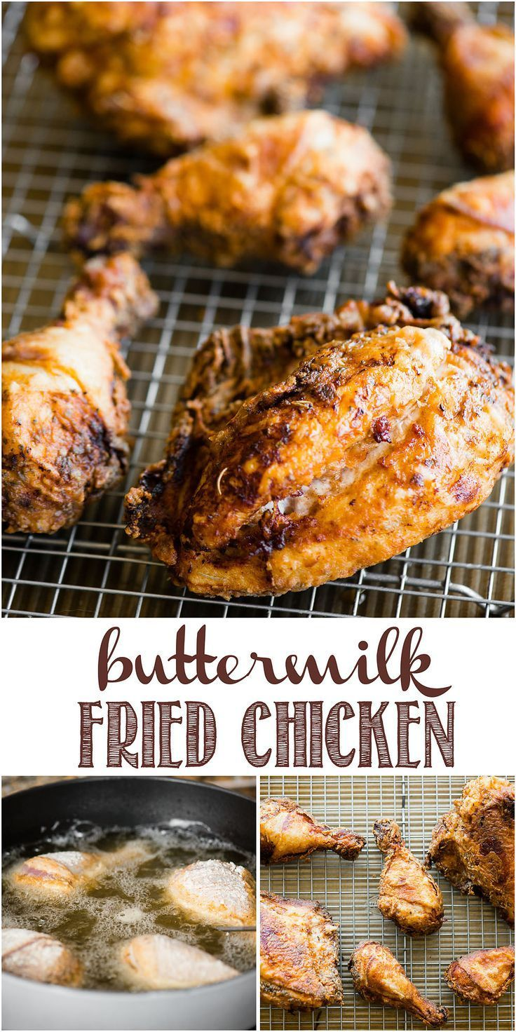Buttermilk Fried Chicken Is The Ultimate Comfort Food Bone In Skin On Chicken Is Soaked In A B Buttermilk Fried Chicken Fried Chicken Recipes Chicken Recipes