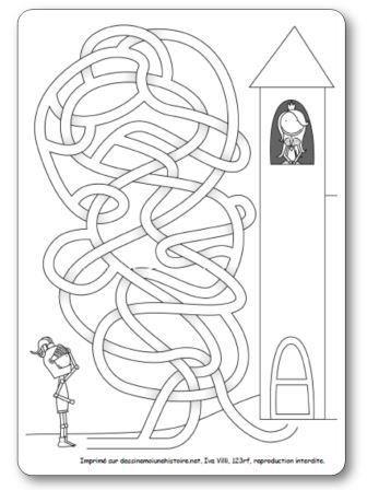 Labyrinthe Chevalier et princesse