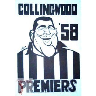 AFL Team Cards :: Collingwood Magpies :: 1958 AFL VFL WEG Premiership Collingwood Murray Weideman Poster -