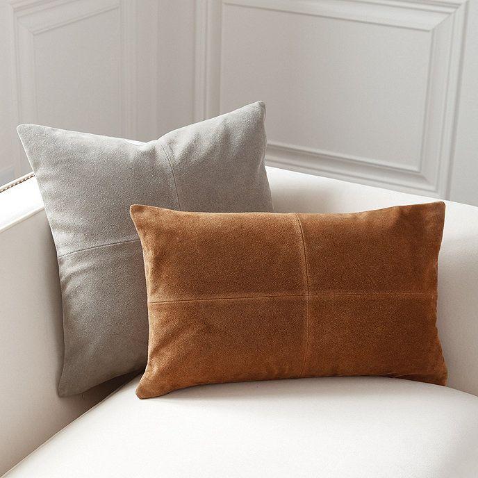 Sueded Leather Throw Pillows Ballard Designs Suede Throw Pillows Leather Throw Pillows Suede Pillows