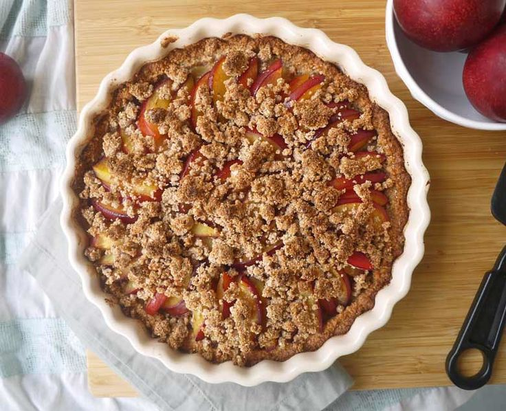 \When I think of fruit tart, I often overlook the plum. Apricot, apple, strawberry-rhubarb, and peach are the fruits that quickly come to mind, and after this recipe, I will never forget about plums again!  To be honest, I've known that plum tarts are delicious. I had my first one in Maastricht last summer. I had just gone on an underground cave tour with my boyfriend, brother, and his girlfriend. As we walked back into the city center, we passed a bakery with the most appetizing looking ...