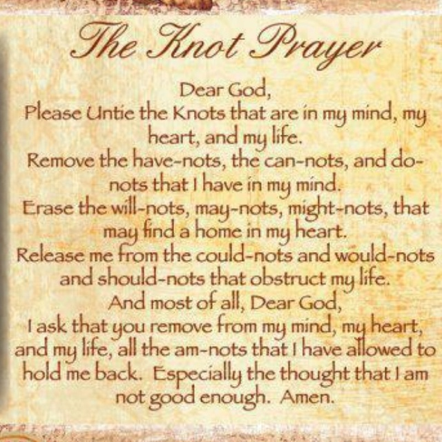 It is a picture of Declarative The Knots Prayer Printable