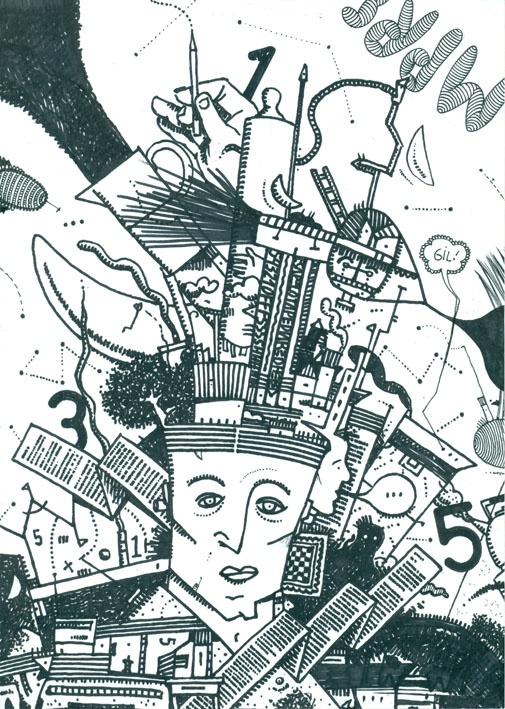 Dibujo Expansivo A01-01-2012. Tinta sobre papel obra 90 grs. Fto A4.