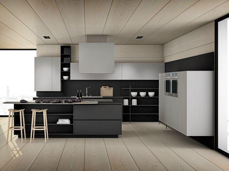 Contemporary Minimal Kitchen With Island | LUCREZIA 22 By #Cesar Arredamenti  | Design Gian Vittorio