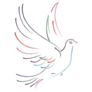 A white dove is a symbol of purity. Description from colourbox.com. I searched for this on bing.com/images