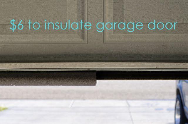 Insulate Your Garage Door For The Winter For 6 Bucks