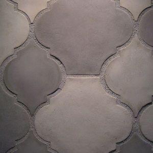 Arabesque integrated color concrete floor tile. ARTO Brick & California Pavers