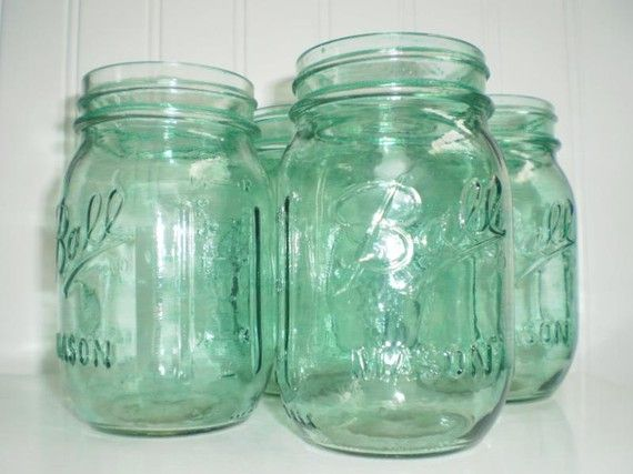 Rare Green Ball Mason Jars. Vintage colors without the vintage price on etsy.