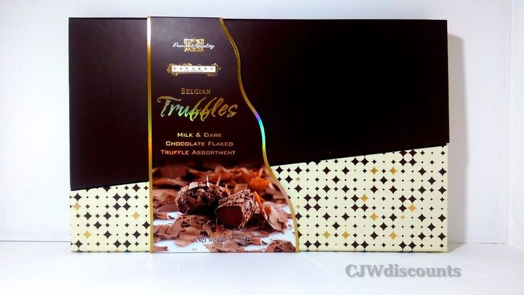 Gavarny Belgian Truffles milk & dark chocolate flaked assortment gift box 525g #ByChocodelice