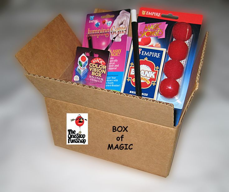 """BOX OF MAGIC.... A box """"LOADED"""" with our best selling magic tricks. Card tricks, floating tricks, coin tricks, tricks of illusion and more. Over $58 of magic at an unheard of price. Perfect for the beginner or experienced magician. Simple and easy to perform with complete instructions included. www.theonestopfunshop.com #cardmagictricks"""