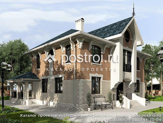 Типовые чертежи дома из поризованных блоков, проект (крупноформатные блоки RAUF) № W-203-1K