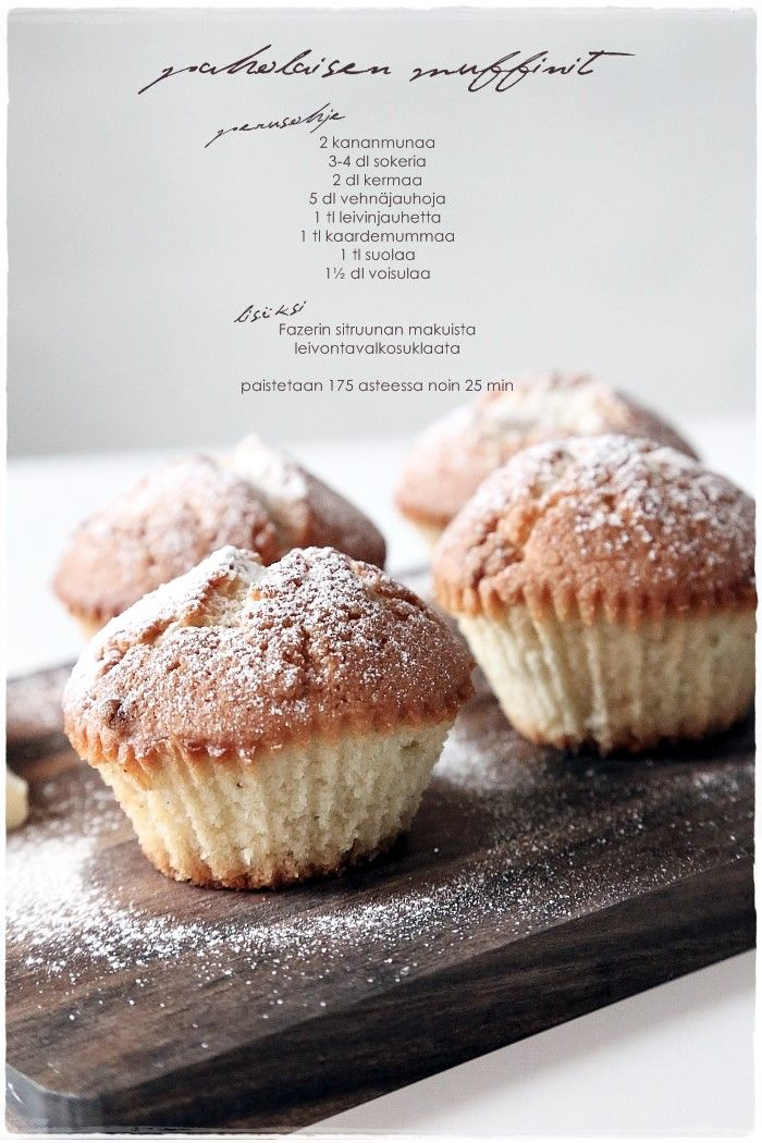 Muffins with cardamom - Paholaismuffinit