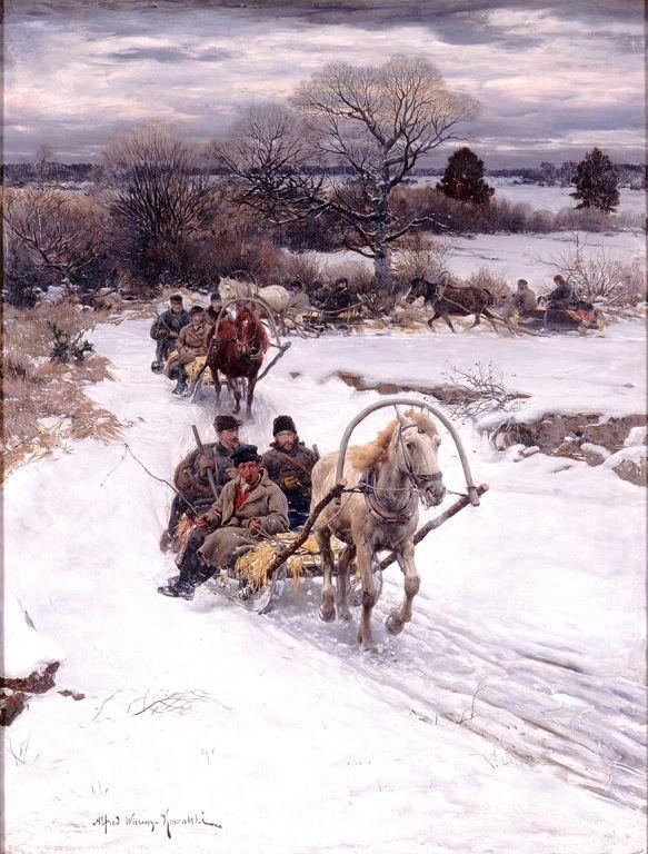 "Alfred Kowalski (Polish, 1849–1915), ""Winter in Russia"", before 1885 (Milwaukee Art Museum, Wisconsin)"