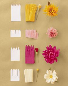 Blumen basteln How to make Crepe Paper Flowers by marthastewartweddings www.meinesvenja.de