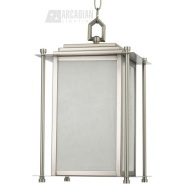 This one reflects the lines of the house - Quorum Lighting 7951465 - Shoreham Transitional Outdoor Hanging Light QR-7951-4-65