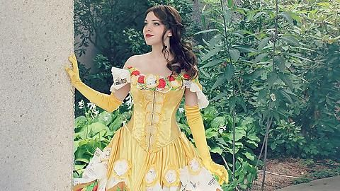 Taco Belle. Huehuehue.  I decided to make this after I accidentally Taco Belle'd three years ago:  Appropriately, before I finished it, I was in a Taco Bell commercial (Fanspiration) earlier this year wearing a different dress I made.  The tacos are hand-painted card stock, tissue paper, and felt. The flowers and, uh, ruffle things; are made from [unused] Taco Bell w...