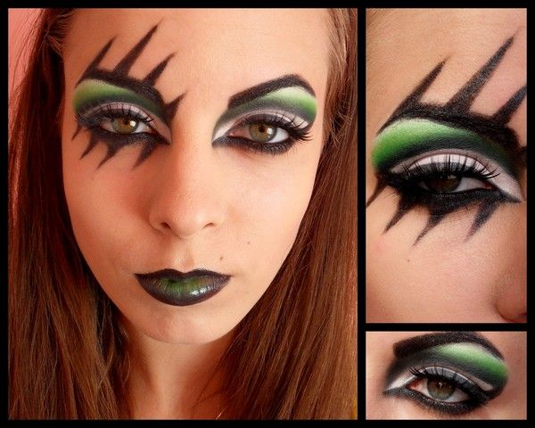 i want to do this with airbrush makeup! would be awesome halloween makeup