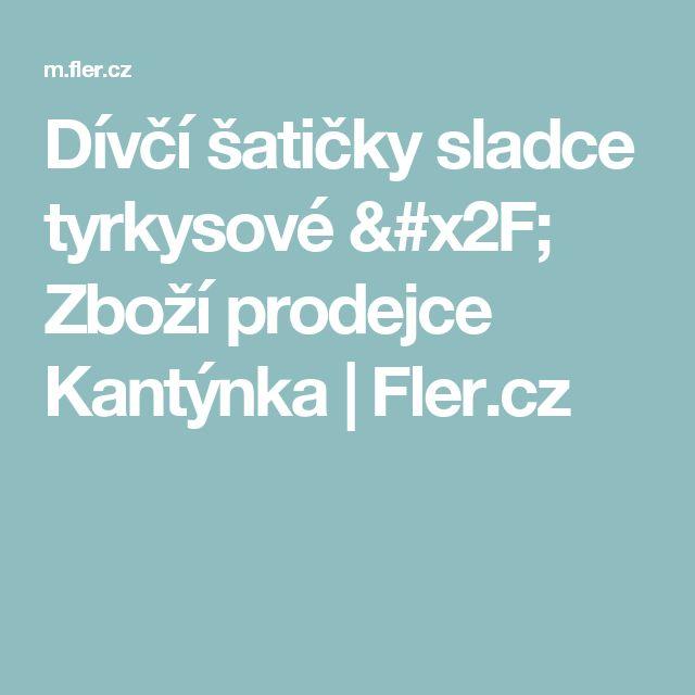 Dívčí šatičky sladce tyrkysové / Zboží prodejce Kantýnka | Fler.cz
