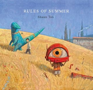 Combining humour and surreal fantasy, Shaun Tan pictures a summer in the lives of two boys. Each spread tells of an event and the lesson learned. By turns, these events become darker and more sinister as the boys push their games further and further. (from https://www.goodreads.com/book/show/17930108-rules-of-summer) There is a helpful teachers' guide at http://www.rulesofsummer.com.au/#!aboutus