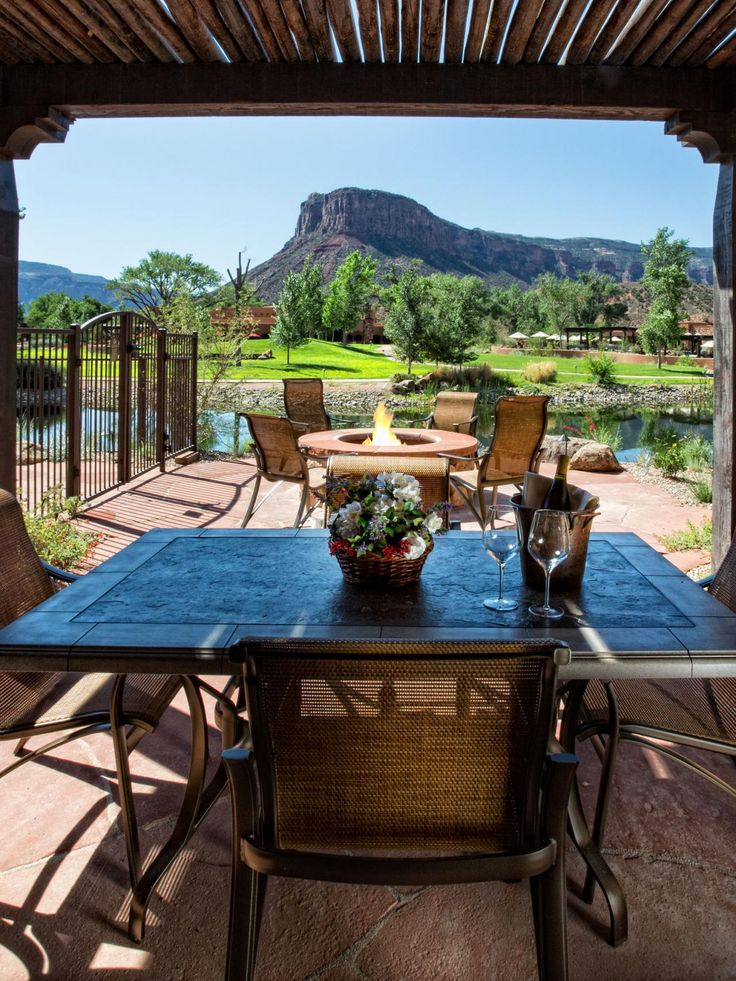 Resorts With the Sexiest Fire Pits | Outdoor Spaces - Patio Ideas, Decks & Gardens | HGTV